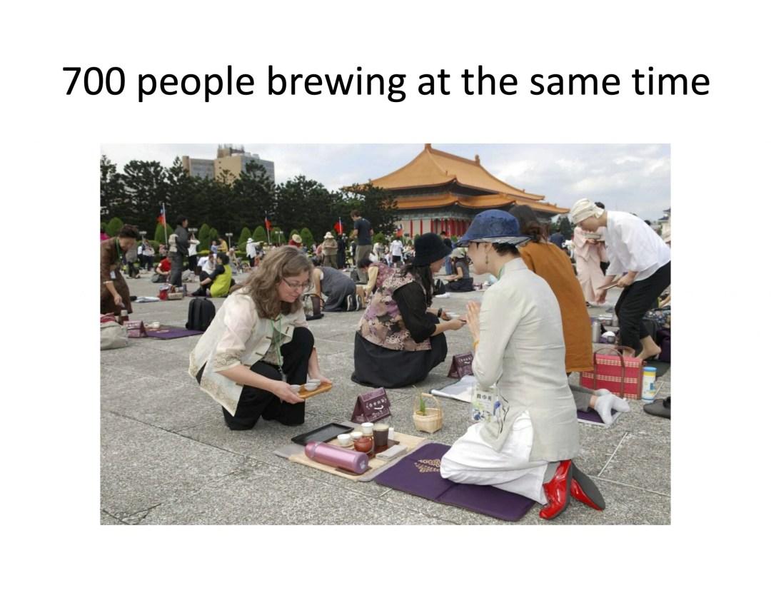 wuwo 2019 international gathering. 700 people brewing tea at one time