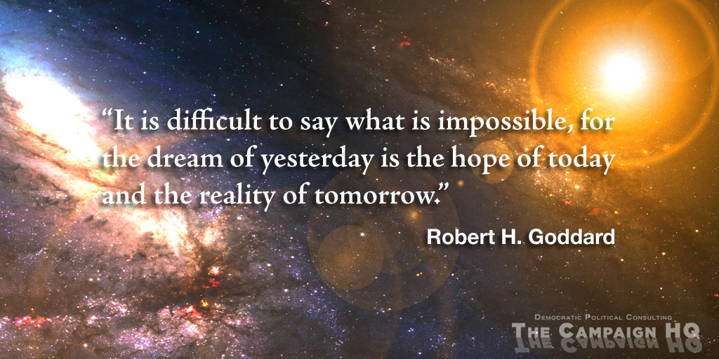Dr. Robert H. Goddard on the Future