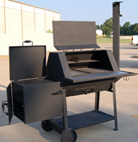 threaded chair glides chairs for living room in ghana tci - metal park equipment bbq smoker/grill