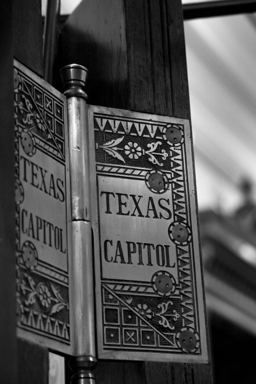 Texas State Capitol Door Hinge