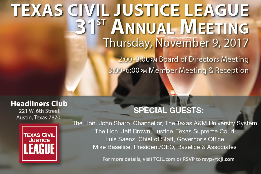 TCJL 31st Annual Meeting Notice