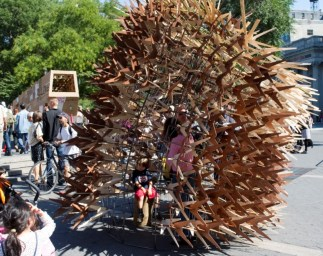 Sukkah City entrant Repetition meets Difference | Stability meets Volatileness by Matthias Karch
