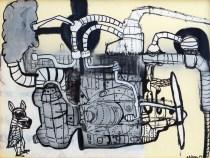Pita´goras Lopes - Acri´lica e spray sobre papel - Ano 2012 - 50x72 cm, NF 125