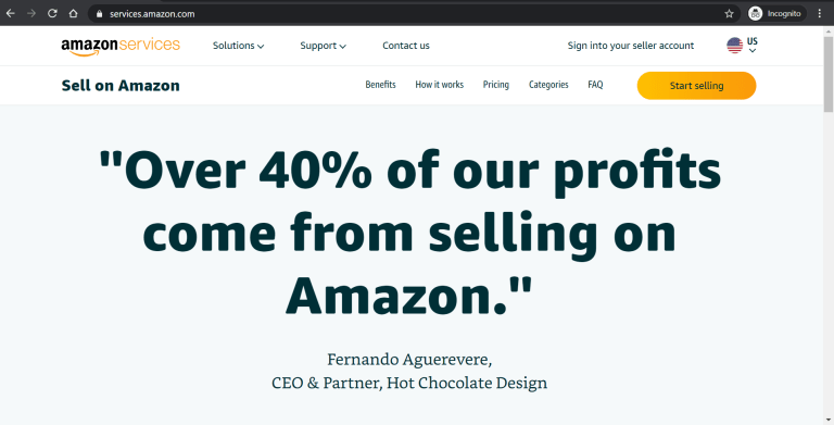 amazon sign up screen