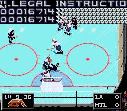 Nhl Hockey 94 Genesis The Cutting Room Floor