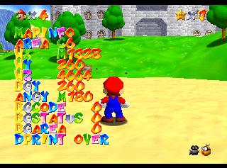 Super Mario 64 Nintendo 64 Debug Content The Cutting Room Floor