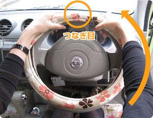 車 ハンドルカバー 付け方、3
