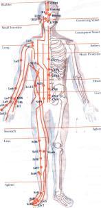 breathing and Qi flow in meridians