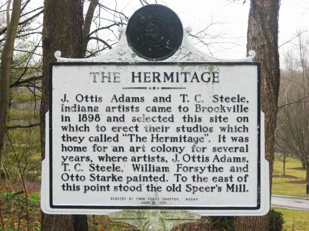 Historical marker at The Hermitage