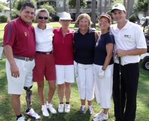 2011 Ladies Foursome with Major Ed & Josh
