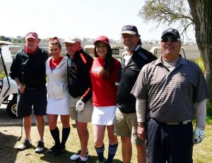 Tidewater foursome and Caddy Girl volunteers at the 2015 TCTC/FOH Fundraiser