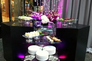 Display with purple lights - Display with purple lights