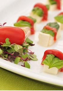 Mozzarella cubes header image - Home