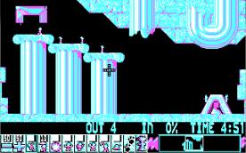 Lemmings CGA level 2