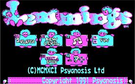 Lemmings CGA title