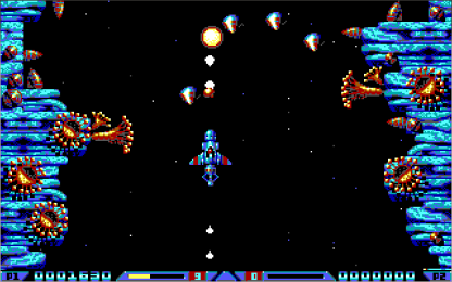 Xenon 2 EGA in-game