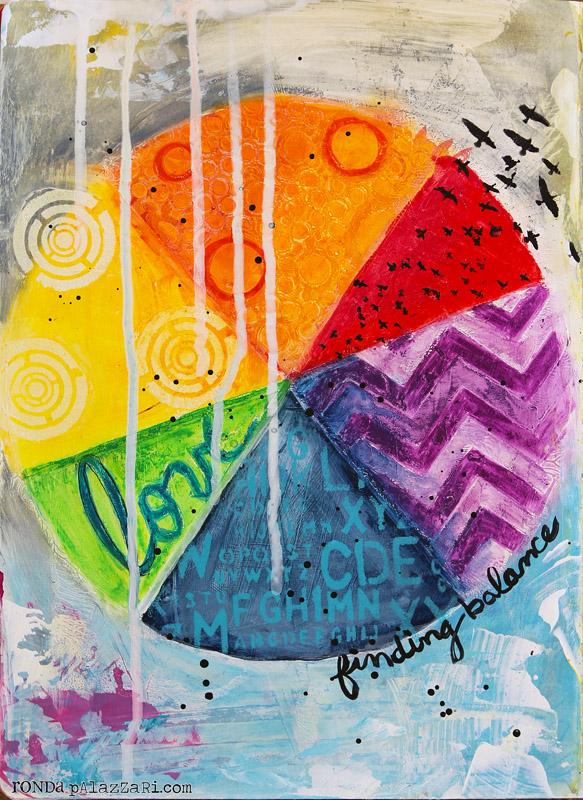 Ronda Palazzari Finding Balance Art Journal