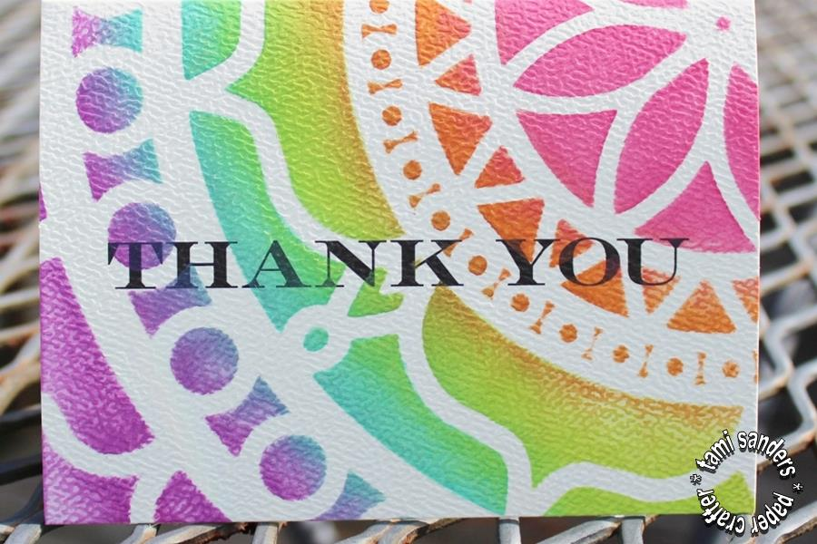 tcw - 5- thank you cards,the crafter's workshop,inking stencils,stenciled cards,tami sanders - shwm