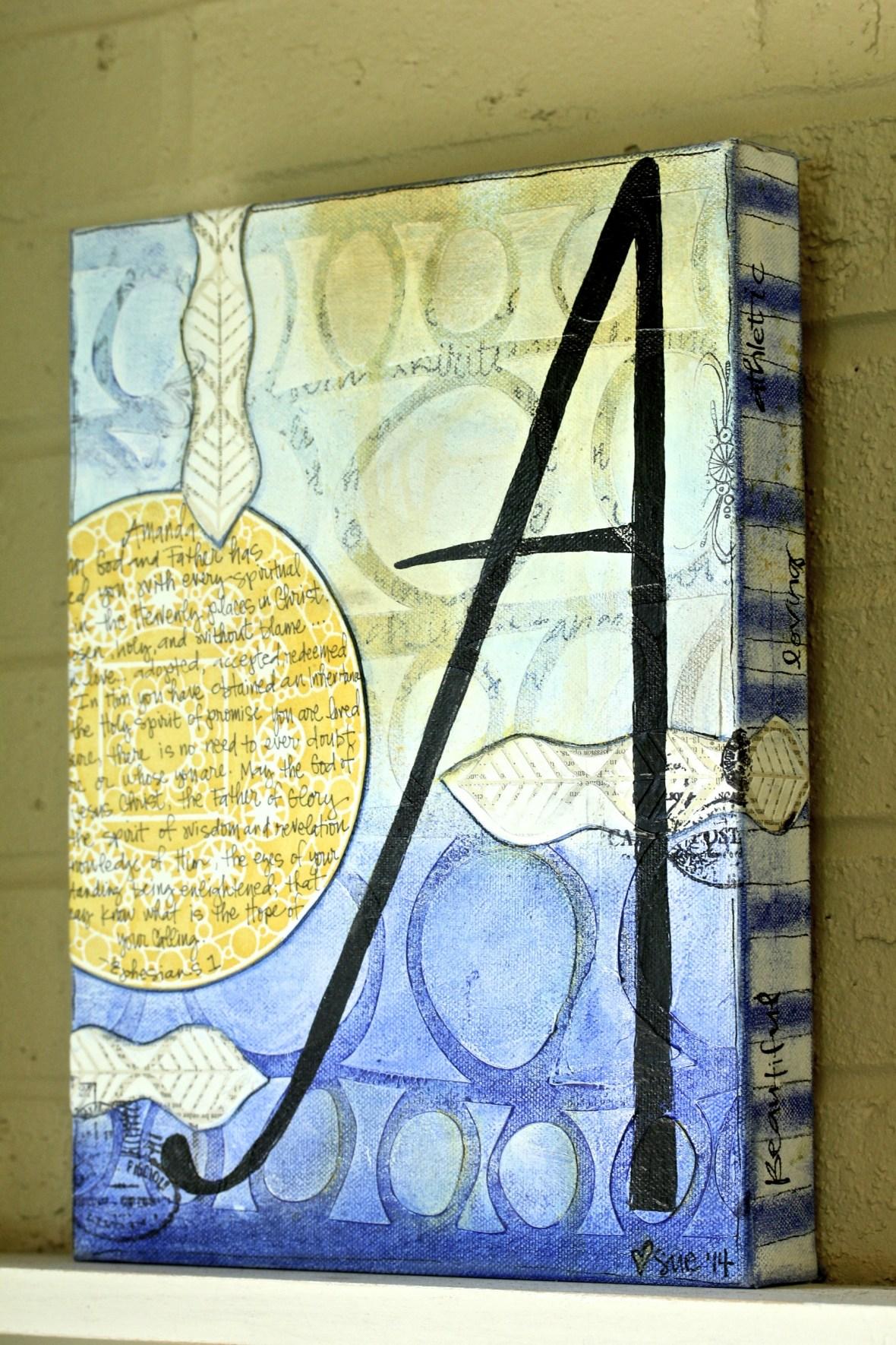 Graduation Canvas/Sue Carroll