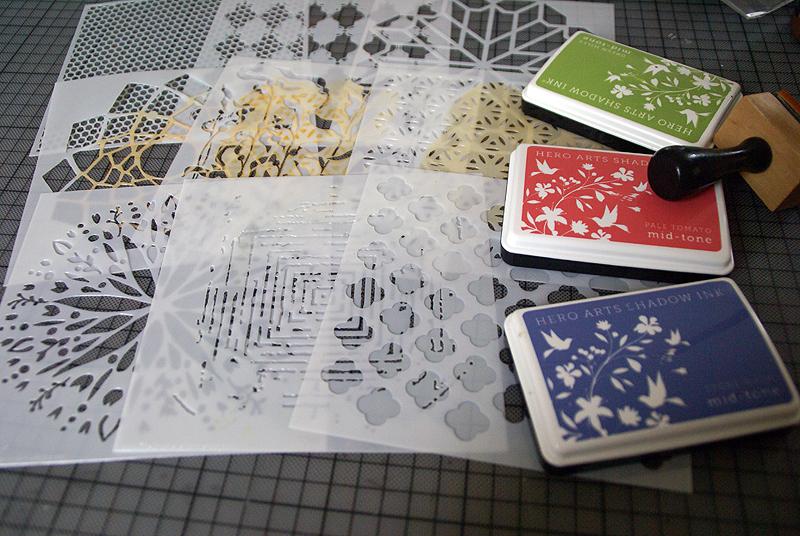 Sanna Lippert - stencils and inks