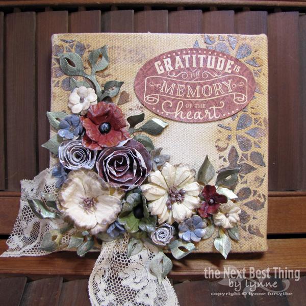 Gratitude Canvas by Lynne Forsythe