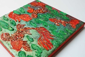 Fishes-in-water-mixed-media-canvas-by-Yvonne-Yam-for-The-Crafter's-Workshop1