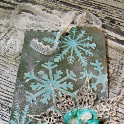 Let it Snow Bag Tag by Lynne Forysthe