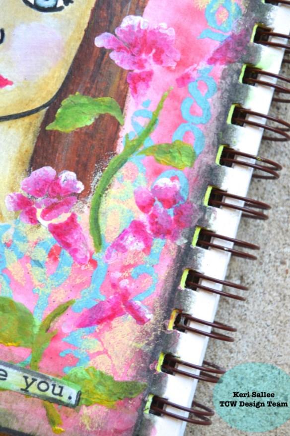 TCW July 2015_Art Journal_Balzer Faces_Flowers