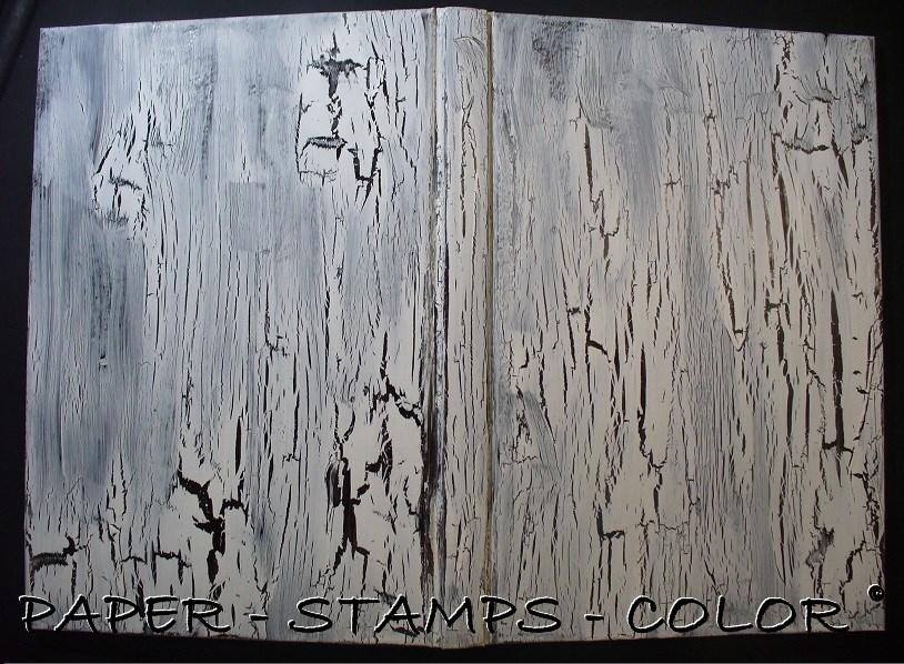 TCW boek blauwbruin crackle stencil vlinder (4)