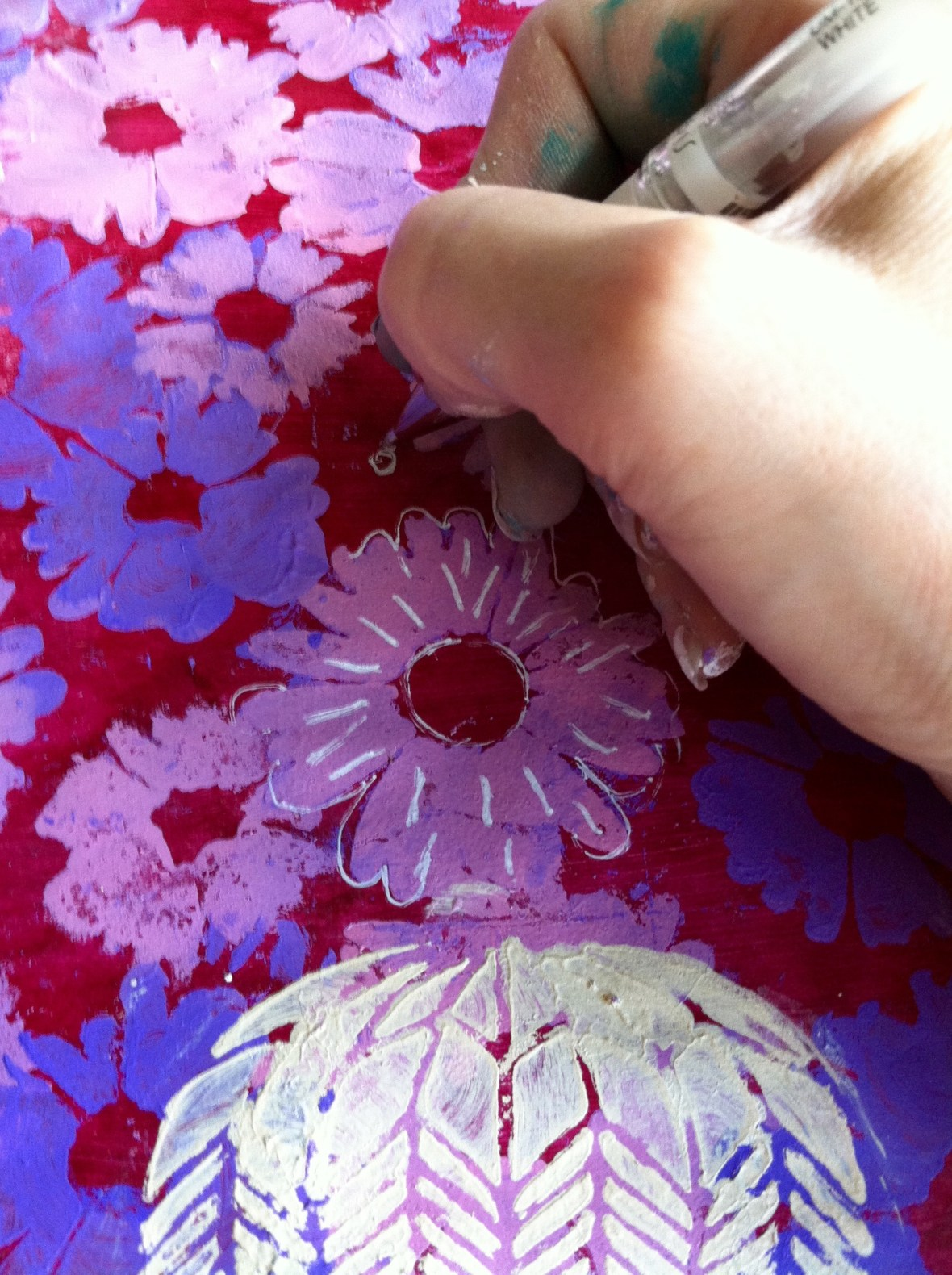 Step 4 adding details flowers