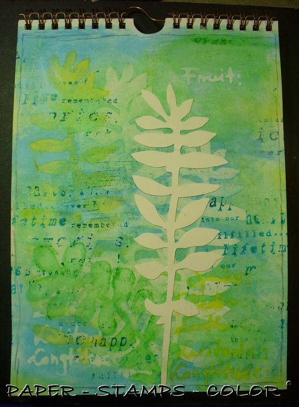 art journal TCW geelgroen blad (2)