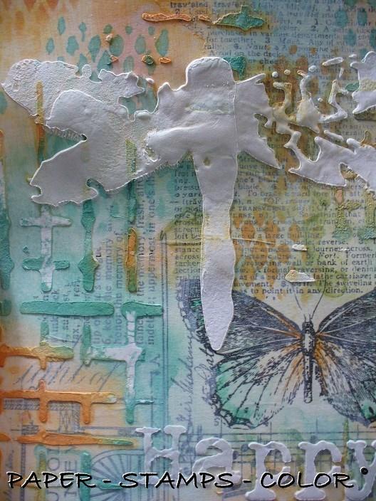 Art Journal Artofthe5th week20 texture modelling paste (8)