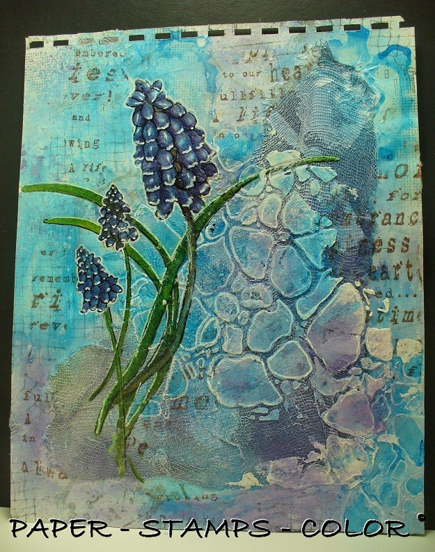Art Journal TCW Magenta paarsblauw collage (6)