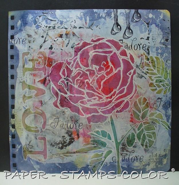 TCW tutorial artjournal roses love (7)