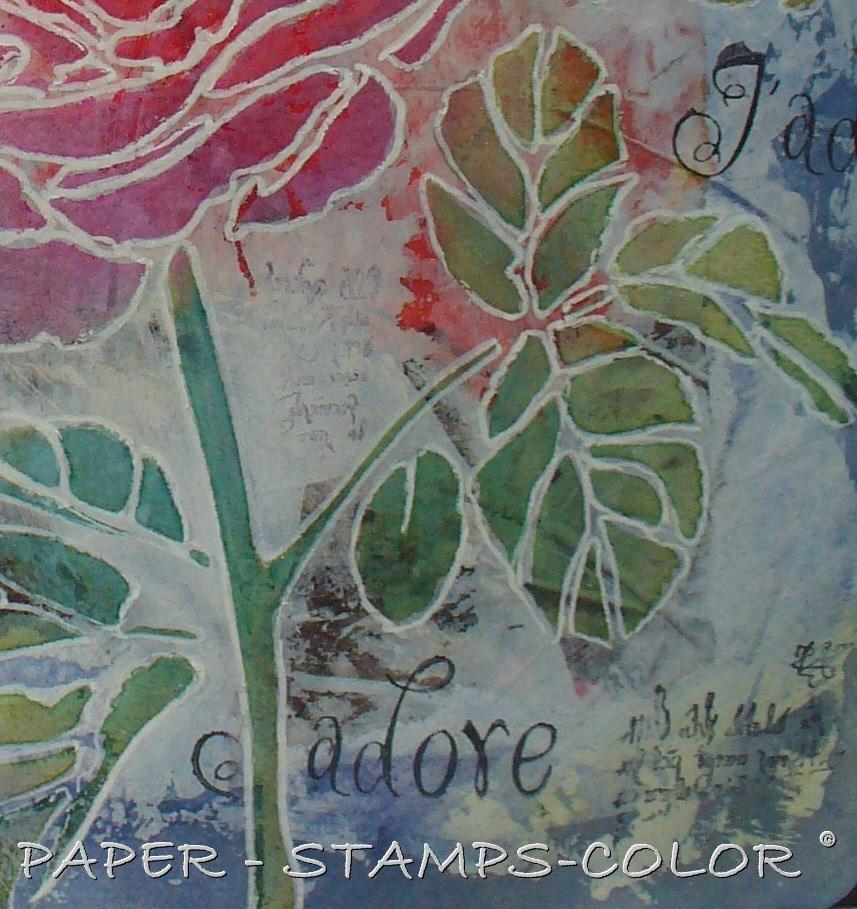 TCW tutorial artjournal roses love (9)