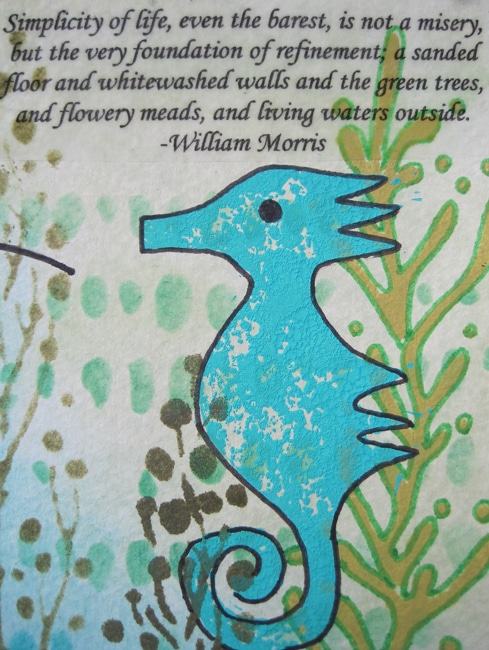 Using an image transfer to add a quote to the art journal page
