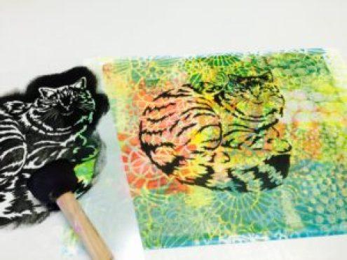 Gorgeous cat stencil