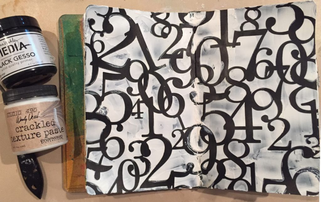 TCW210NumbersCollageArtJournal