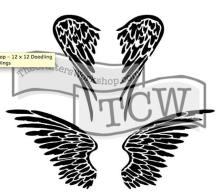 TCW616 Angel Wings stencil