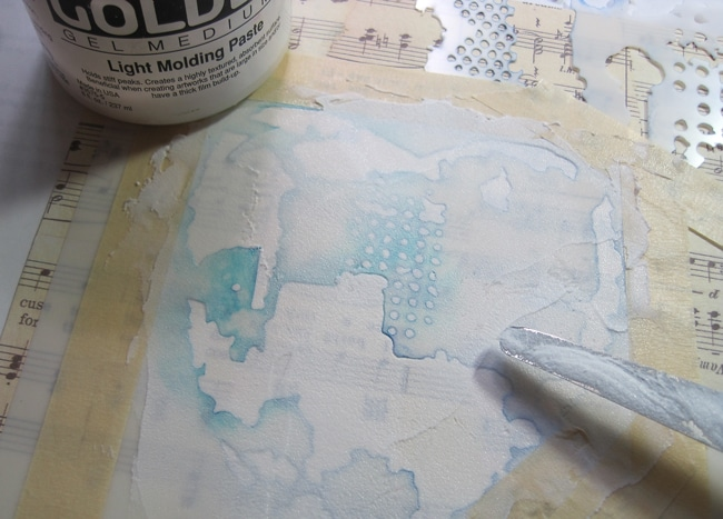 Molding paste through TCW stencil with palette knife