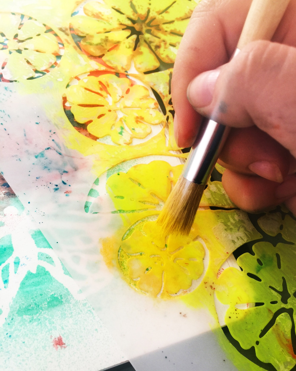 stencil play