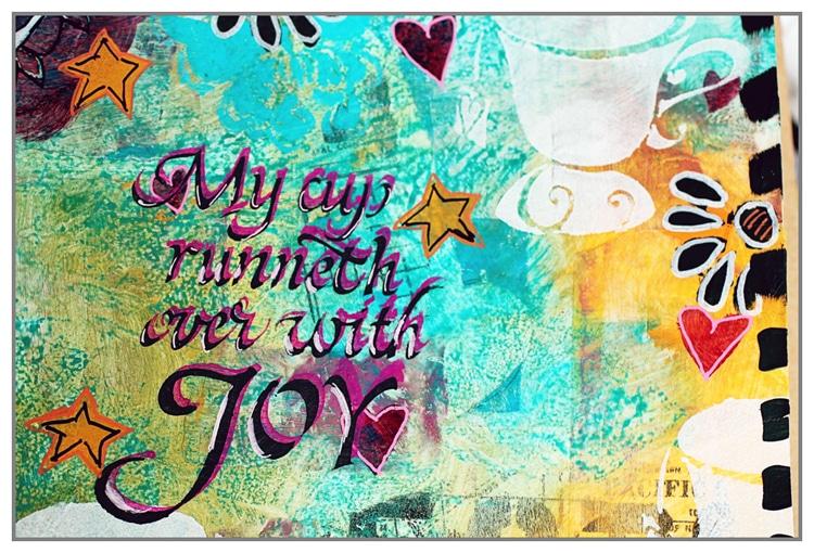 Art Journal page usong TCW2158 Cup of Joy by Yasmina
