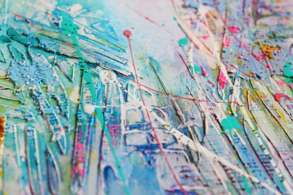 splashes of acrylic paint