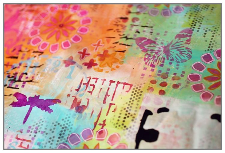 Mail Art by Yasmina using various TCW stencils