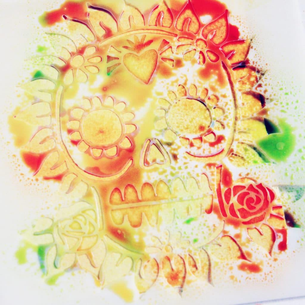 Detail of stencil