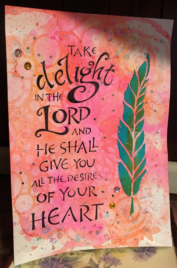 Take Delight, TCW2157, Stencil Ring Doily, TCW460, Kim Schofield, Faith Art Journaling