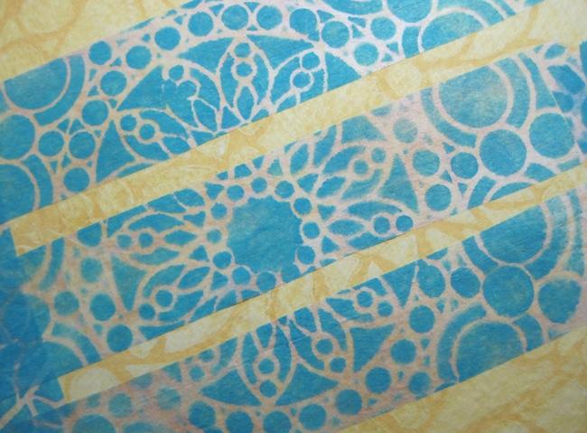 Close up stencil strips LEFKO