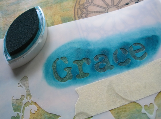 TCW702s stencil with fluid chalk ink LEFKO