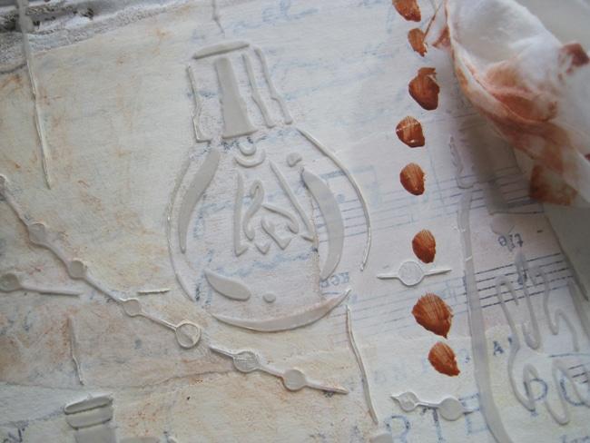 burnt sienna acrylic and glazing liquid LEFKO