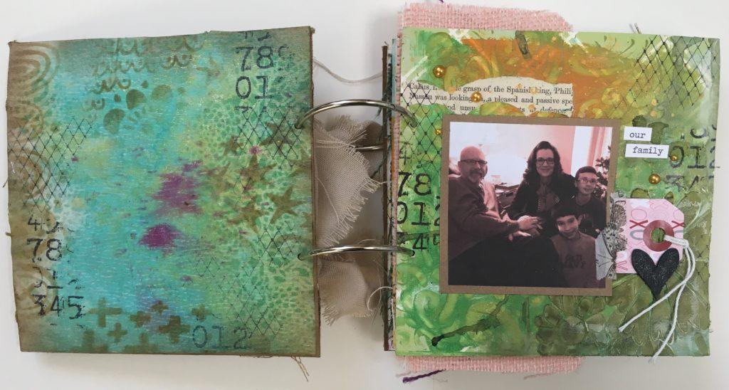 Kim Schofield, TCW, Canvas Corp, Mini Album, Page 1